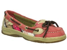 Sperry Angelfish Red/Weekend Plaid Topsider Childrens Boat Shoes Sperry Top-Sider. $39.99