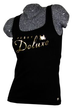 Pussy Deluxe Fury Ribtop black / gold   modern-store.de