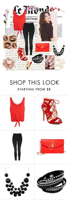 """""""#set"""" by leky-2001 ❤ liked on Polyvore featuring Splendid, Topshop, J.W. Anderson and Yves Saint Laurent"""