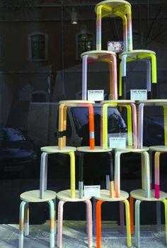 Amazing fluor stools in studiostore