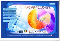 """""""Las fracciones"""" (Aplicación interactiva de Matemáticas de Secundaria) Map, Education, Games, Ideas, Equivalent Fractions, Maths Area, Interactive Activities, Blue Prints, Location Map"""