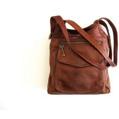 Fossil Purse Leather Cross Body Boho Bag Cognac Brown Shoulder Bag 90s... ($58)…