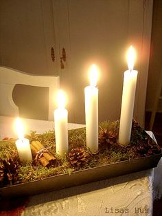diy idea:  Advent wreath/revise version