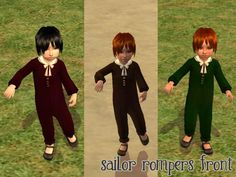 Mod The Sims - Sailor Suits for Toddler Boys