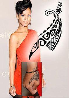 Maori Hand Print - Rihanna Rihanna's had her Maori inspired hand tattoo inked in… Maori Tattoos, Tribal Hand Tattoos, Hawaiian Tribal Tattoos, Maori Tattoo Designs, Hand Tattoos For Women, Tattoo Designs For Girls, Fake Tattoos, Trendy Tattoos, Body Art Tattoos