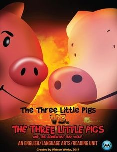 Get our English/reading unit that compares and contrasts the classic version of the folktale, The Three Little Pigs, with The Three Little Pigs and the Somewhat Bad Wolf by Mark Teague for only $6.50!