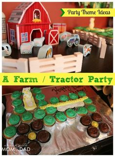 """bunch of tractor party ideas. Forks and spoons are """"pitchforks and shovels."""" Fun! Party Theme Ideas :: A Farm / Tractor Birthday Party 