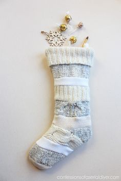 Sweater Stockings ~ I love these stockings made out of old sweaters!