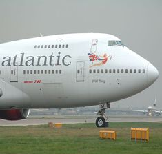Virgin Atlantic Boeing 747- from Orlando to London Gatwick