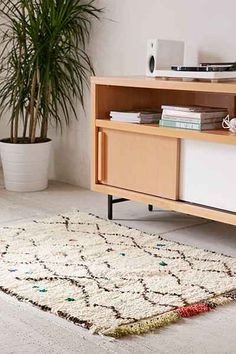 One-Of-A-Kind 3x4 Moroccan Tufted Boucherouite Shag Rug