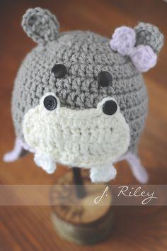 Newborn Crochet Hippo Hat Inspiration Image