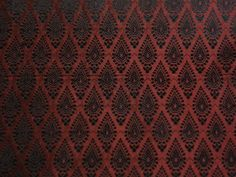 Spun Brocade fabric dark rust / black Color**