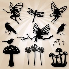Woodland Fairies SVG Collection Woodland Fairies SVG Collection : SVG Files for Silhouette, Sizzix, Sure Cuts A Lot and Make-The-Cut - SVGCuts.com