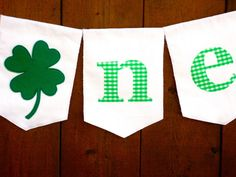 St. Patrick's Day Birthday Banner High Chair by SeacliffeCottage