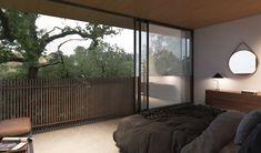 A-Frame House — Ryan Leidner Architecture Lafayette House, A Frame House Plans, Oak Forest, Cabin Interiors, California Homes, Model Homes, Modern House Design, Behance, Home Decor