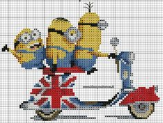Minions on scooter 1 of 2