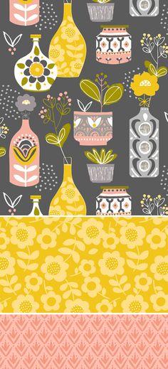 Repin @maisonsdumonde Come abbinereste questa carta da parati?  #wallpaper #pattern #cartadaparati  Wendy Kendall designs  https://www.homify.it/prodotti/pareti-pavimenti