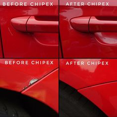 Ola christoffersson's before and after #Chipex photos. 'This is my first try with Chipex. I'm selling my car and needed to fix hundreds of Chips and scratches. One kit was plenty to fix all. I must admit that I did not put as much effort into it as I would have done if I was to keep the car but I am still very happy with the results. Here are two of the worst scratches.'