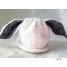 Hehe..cute Peter CottonTail hat for a little kid or baby $33 Hand made on Etsy of course! #kids #hat #accessories #white