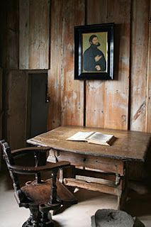 The Luther Room where Martin Luther translated the New Testament, Wartburg Castle -  Eisenach, Germany