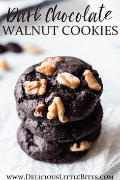 Chocolate Chip Walnut Cookies, Chocolate Dishes, Tasty Chocolate Cake, Dark Chocolate Chips, Homemade Chocolate, Chocolate Recipes, Holiday Cookie Recipes, Best Cookie Recipes, Best Dessert Recipes