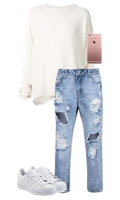 """./././//.///.././..../"" by anna-mae-equils on Polyvore featuring URBAN ZEN and adidas Originals"