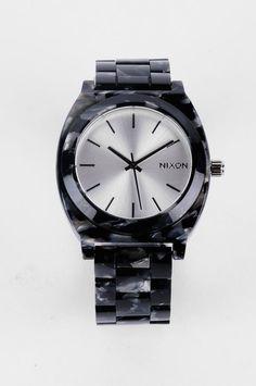 Nixon Time Teller Acetate Watch in Gray Granite/Tortoise $150