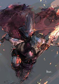 Dark Souls III Fanart - Abyss Watcher by Nakama-Kai on DeviantArt Fantasy Armor, Dark Fantasy Art, Dark Souls Three, Arte Dark Souls, Software Art, Soul Saga, Fan Art, Fantasy Characters, Dark Souls Characters