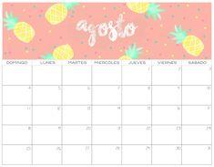 Calendario 2019 GRATIS   Imprimibles Cute Calendar, 2021 Calendar, Monthly Planner Printable, Calendar Printable, Cute Wallpapers, Photo Cards, Banner, Bullet Journal, Printables