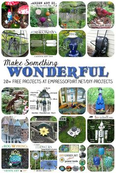 Make something wonderful: 20+ DIY Projects with free tutorials using repurposed household items