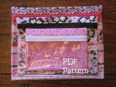 Clear Zipper Bags Pattern. Great for baby stuff