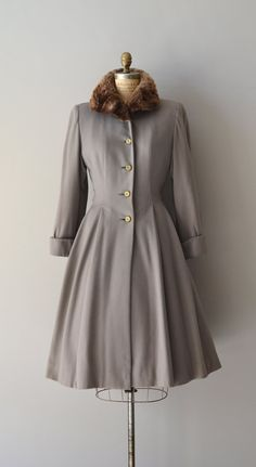 Beautiful 1940s Lolland wool princess coat. #vintage #1940s #coats #winter #fashion
