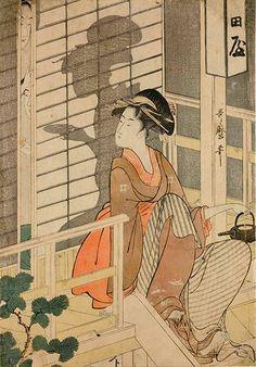 ".:. ""The Naka-daya Tea house"", Kitagawa Utamaro (1753-1806) - 1794-95. [Source: Ikon Gallery]"