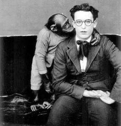 """Harold Lloyd and little friend from the short """"Harold Lloyd's Cigarette"""" - (c. late 1910's)"""
