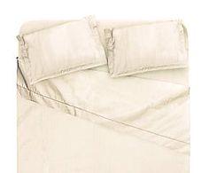 Completo letto matr. in raso di cotone Platino - avorio