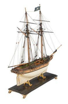 Petite goélette anglaise à huniers, 1780 (National Maritime Museum)