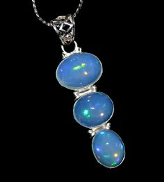 27.5 Carat 925 Sterling Silver Pendant With Awesome by Gems036, $29.00 Sterling Silver Pendants, Silver Jewelry, Pearl Earrings, Drop Earrings, Welo Opal, Opal Gemstone, Victorian Jewelry, Beautiful Gift Boxes, Labradorite