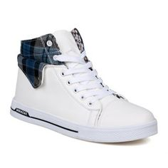 $27.33 Preppy Checked and Fold Design Men's Casual Shoes