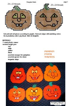 pumpkin patch magnets pattern-p.canvas