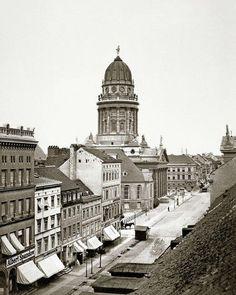 Jägerstraße und Französischer Dom, 1865