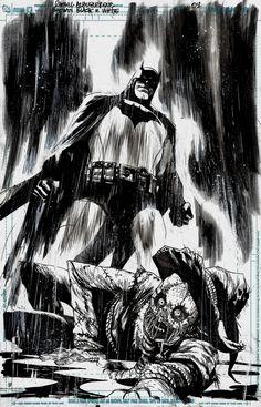 Rafael Albuquerque Batman Black and White 2 Splash Page - Original Comic Art - W.B.