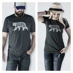 GroopDealz | Mama & Papa Bear Super Soft T-shirts