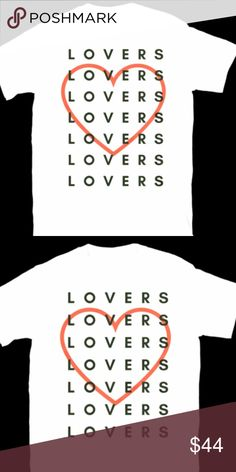 nwt LOVERS TEE top blouse shirt amor love gift Cute & Casual statement t-shirt is the perfect gift for lovers & friends!  *offers warmly welcomed!   TEXT: Lovers MATERIAL: 100% Cotton. NECKLINE: Crew SLEEVE: Short LABEL SIZE: S/M, L/XL MEASUREMENTS: True to Size. → Style inspiration: The Bold Type, The L word, Sex in the City!  ❁ Pair with our DRAGON STUD EARRINGS & DIREWOLF TEE! Studio Berkeley Tops Blouses