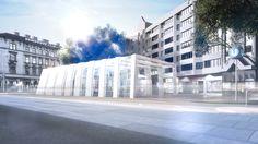 Visualization of a futuristic subway in Vienna. 3d Visualization, 3d Artist, Vienna, Futuristic, Street View, Outdoor, Outdoors, Outdoor Games, Outdoor Living
