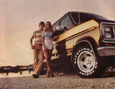 1970s custom van swinging couple