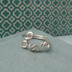Love anillo en plata esterlina