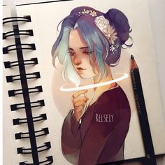 Throwback! Drawing back in summer i was happy with (not sure why exactly but maybe bc shows more feeling that my other illustrations?) Idk what do you think?  I also edited colours and added my current username  #digitalart #كلنا_رسامين