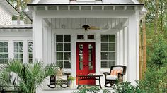 2016 Best-Selling House Plans - Southern Living - Since the first issue ofwe've featured and sold house plans. Now our collection spans more than unique designs. Here are 10 of our best sellers. Southern House Plans, Southern Living, Southern Style, Patio Design, House Design, Small Cottage Homes, Building A Shed, Building Homes, Building Ideas