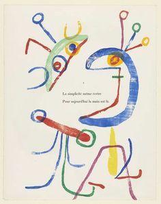 Joan Miró, Proof from A Toute Epreuve by Paul Eluard (1947-1958).