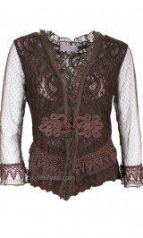 Just in time for the Holidays!! Get this lace bolero with a matching skirt for our holiday party!! Pretty Angel Clothing Flamingo Bolero In Coffee at Styles2you.com